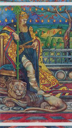 Le roi de bâtons - Tarot cristal par Elisabetta Trevisan