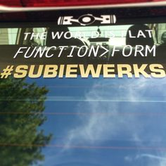 Thanks @subiewerks555 for the decal! #subiewerks #theworldisflat #functionoverform #subaru #impreza
