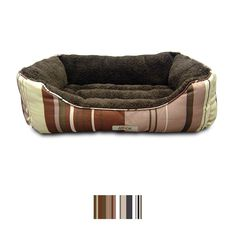 Make every night a good one with the ASPCA Microtech Striped Cuddler Dog Bed. Designed to wrap your dog in cozy comfort, this bed features a super soft interior that's the next best thing to a belly rub from you. The raised sides act like a built-in pillow from every angle, and that front features a dipped area that allows him to easily climb aboard. And when it's time for a cleaning, you can throw the entire thing in the wash so it stays looking new for a long time to come. And perhaps best…