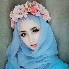 Hijab flower crown