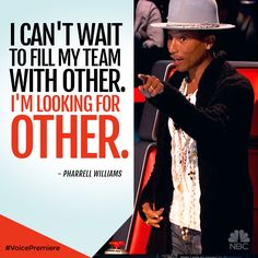 It's all about #TeamOTHER for Pharrell this season of #TheVoice.