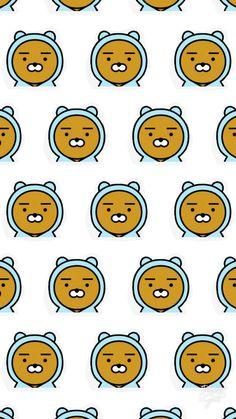 Screen Wallpaper, Wallpaper Backgrounds, Ryan Bear, Pat Pat, Kakao Friends, Presents For Friends, Cute Pattern, Background Patterns, Cute Wallpapers