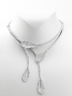 Van Cleef & Arpels 18K White Gold Virevolte Diamond Necklace at London Jewelers!