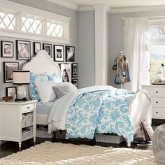 You have a nice living room but no room? And if you partition your living room to create this room you dream? How to create two separate spaces in a room without heavy work? Guest Bedroom Inspiration, Bedroom Inspirations, Teenage Girl Bedrooms, Girls Bedroom, Bedroom Decor, Coastal Bedrooms, Girl Room, Girls Bedroom Furniture, Bedroom Furniture