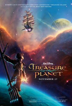 Treasure Planet Movie Poster 27 X Emma Thompson, Corey Burton, A, Usa, & Garden Disney Films, Disney Pixar, Walt Disney Animated Movies, Animated Movie Posters, Disney Movie Posters, Disney And Dreamworks, Old Disney Movies, Disney Characters, Walt Disney Animation