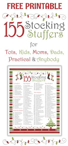 155 Awesome Stocking Stuffer Ideas with Free Printable - Great ideas divided by age! 155 Awesome Stocking Stuffer Ideas with Free Printable - Great ideas divided by age! Christmas Projects, Holiday Fun, Christmas Holidays, Christmas Decorations, Christmas Ideas, Holiday Ideas, Funny Christmas, Merry Christmas, Christmas Planning