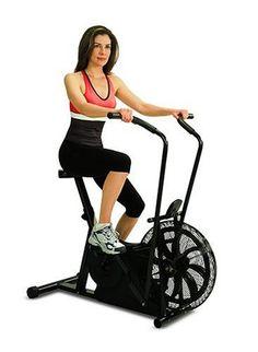 bonnie pedals an exercise bike