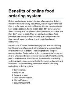 online ordering system introduction