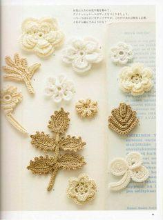 Irish Crochet Lace Japanese Crochet Book PDF, Irish Motif Crochet Patterns Shawl Muffler Bag Necklace Ring Pillow, Instant download-Code 197