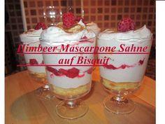 Himbeer-Mascarpone Dessert - Rezept von Lila Kuchen Mousse, Pudding, Food, Youtube, Raspberries, Purple Cakes, Meal, Eten, Puddings