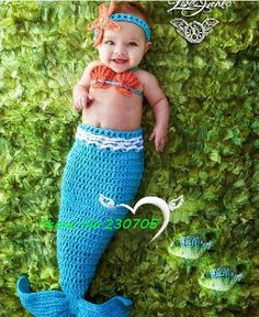baby headbands starfish   HOT Cute Baby Infant Crochet Mermaid Costume Photo Photography Prop ...