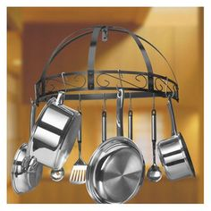 Kinetic Wrought Iron Wall Half Round Pot Rack--Right above the stove.  I would like to secure the S-hooks.