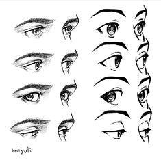 Eye Drawing Tutorials, Digital Painting Tutorials, Digital Art Tutorial, Drawing Techniques, Drawing Heads, Nose Drawing, Drawing Poses, Anatomy Sketches, Anatomy Drawing