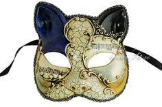 Antique Venetian Cat Masquerade Mask