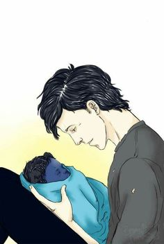 Aawww aww awww, look at that cute little baby! Omg, adorable!Alec & Max Lightwood- Bane