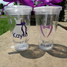 Hey, I found this really awesome Etsy listing at https://www.etsy.com/listing/254493035/flower-girl-and-ring-bearer-tumbler-set