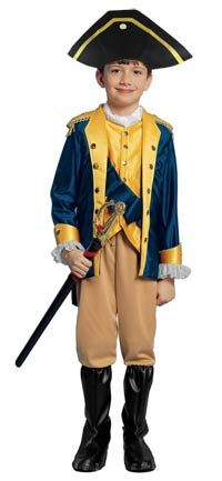 Patriot Boy Kids Costume - Colonial Costumes