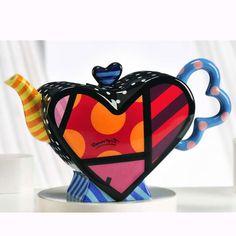 Britto Heart Shape Teapot