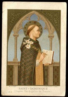 Saint Dominic, 4 August, Prayer Cards, Flourish, Palm Trees, Growing Up, Catholic, Mona Lisa, Saints