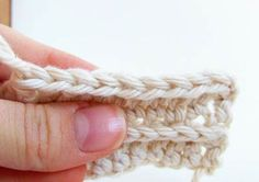 Faux-knit ribbing in half-double crochet.  Not Tunisian or posts!