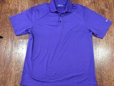 765cba884e Nike Golf NikeGolf Mens Fit Dry Purple Short Sleeve Polo Golf Shirt Large   NikeGolf  PoloRugby