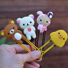 Rilakkuma Bookmark Clips, The Kawaii Notebook