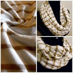 Check out this item in my Etsy shop https://www.etsy.com/listing/498421172/infinity-scarf-cream-stripe-on
