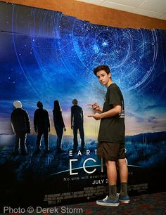 "In the News: Teo Halm meets fans in Central Park and surprises an audience at Regal Cinemas on the opening day of his film ""Earth to Echo"""