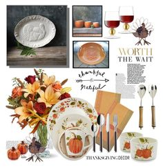 """""""Festive....Not Fussy !!"""" by kateo ❤ liked on Polyvore featuring interior, interiors, interior design, home, home decor, interior decorating, Sur La Table, Pier 1 Imports, LSA International and Fantasia"""