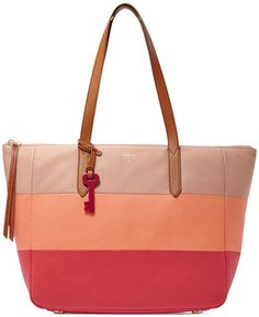 Fossil Preston Large Leather Colorblock Tote - I like the pockets inside