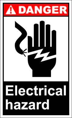 Electrical hazard $1.64 #signs