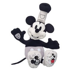 Anniversary Disney Steamboat Mickey, , hi-res Disney And More, Disney Fun, Disney Mickey, Disney Ideas, Mickey Mouse Doll, Giant Stuffed Animals, Steamboat Willie, Disney Plush, Steamboats