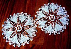 RUNNER table scarf Doily PAIR White Star by RenaissanceProfessor, $11.00