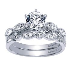 Engagement and wedding band all together! LOVE!!!!