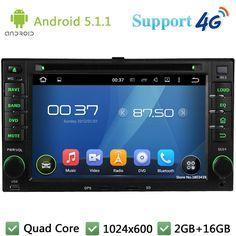 Quad Core Android 5.1.1 Car DVD Player Radio FM DAB+ 3G/4G WIFI GPS Map For Kia Sportage Spectra Sorento Carens Optima Magentis #Affiliate