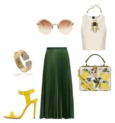 """""""End of Summer Party"""" by arta13 on Polyvore featuring Dolce&Gabbana, Alice + Olivia, Vanessa Bruno, Roberto Cavalli, Jimmy Choo and Linda Farrow"""