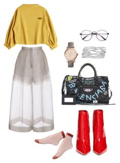 """""""Untitled #159"""" by daii-deea on Polyvore featuring Delpozo, Gianvito Rossi, Balenciaga, FOSSIL and M&Co"""