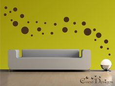 Polka Dots, 1 Color, 5 Sizes - Vinyl wall decals stickers, kids room, nursery, children stickers, bubbles, rings, circles