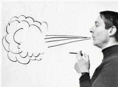 """mpdrolet: """"Roy Lichtenstein, New York, 1964 Ugo Mulas """""""
