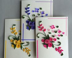Card for any occasion - Quilling Paper Crafts Quilling Birthday Cards, Paper Quilling Cards, Paper Quilling Flowers, Paper Quilling Patterns, Quilled Paper Art, Quilling Craft, Quilling Ideas, Paper Quilling For Beginners, Quilling Techniques