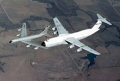 Boeing KC-135 Stratotanker refueling a Lockheed C-5A Galaxy