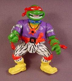 Tmnt Heavy Metal Raph Action Figure, 1991 Playmates, Rock 'N Rollin Turtles Series