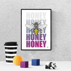 honey bee home decor, printable, bee decorations, honey bee wall decor, - Modern Honey Bee Home, Honey Bees, Frame It, Bee Decorations, Queen Bees, Hanging Art, Printable Wall Art, Art For Sale, Wall Decor