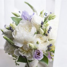 Yes lavender, replace peony with white dahlias, replace green tall pieces with dried wheatgrass