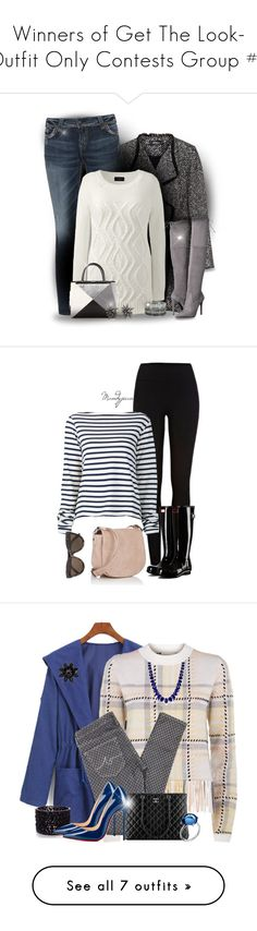 """""""Winners of Get The Look- Outfit Only Contests Group #3"""" by babygurl7191 ❤ liked on Polyvore featuring Elena Mirò, Silver Jeans Co., Lands' End, Fendi, GUESS, Alexis Bittar, Bernard Delettrez, plus size clothing, River Island and Jacquemus"""