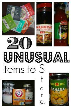20 Unusual Items to Stock Up On | via www.TheSurvivalMom.com