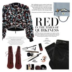 """""""Red in the times of quirkiness"""" by honestlyjovana ❤ liked on Polyvore featuring Marni, Denham, Hermès, Gianvito Rossi and Chanel"""