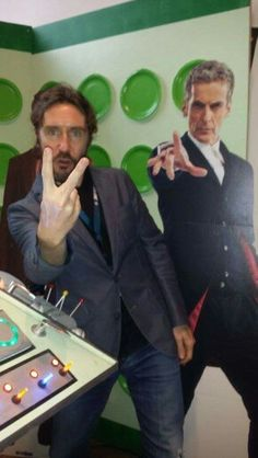 Paul McGann and. .well... Peter Capaldi at a comic con some where.