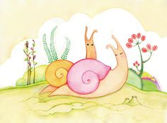 Snail Illustration, via Flickr.