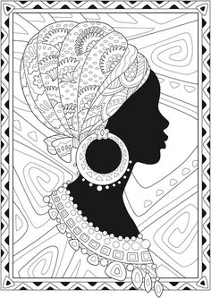 African American Coloring Books Luxury Creative Haven African Glamour Coloring Book Dover Publications Colouring Pages, Coloring Books, African Art Paintings, African Drawings, African Quilts, Afrique Art, Buch Design, Art Premier, Dover Publications